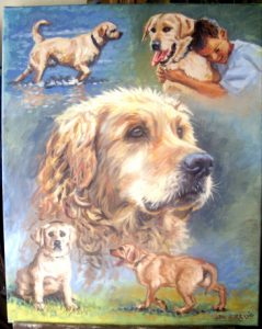 Labrador Oil Painting by Stan Hurr