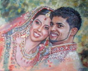 Wedding Oil Painting by Stan Hurr