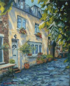House Oil Painting by Stan Hurr