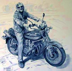 Motorbike Portrait by Stan Hurr