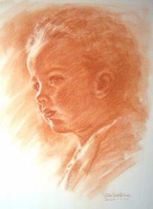 Child Sanguine Portrait by Stan Hurr