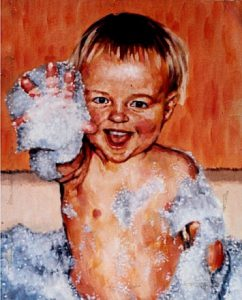 Oil Painting Baby by Stan Hurr