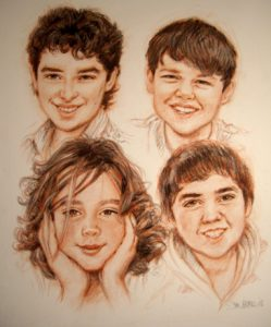 Group Sanguine Portrait by Stan Hurr