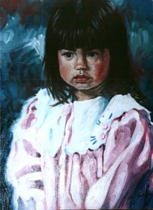 Girl Oil Painting by Stan Hurr