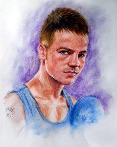 Man Colour Pastel Portrait by Stan Hurr