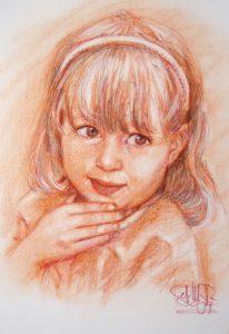 Girl Sanguine Portrait by Stan Hurr
