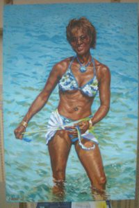 Beach Oil Painting by Stan Hurr