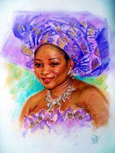 Woman Colour Pastel Portrait by Stan Hurr