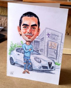 Caricature Greetings Card by Stan Hurr