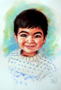Boy Colour Pastel Portrait by Stan Hurr