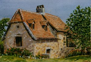 Watercolour House by Stan Hurr