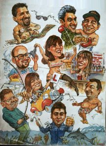 Group Colour Caricature by Stan Hurr