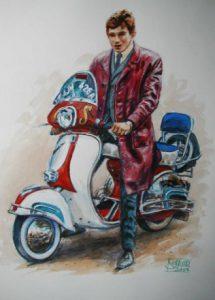 Bike Watercolour Portrait by Stan Hurr