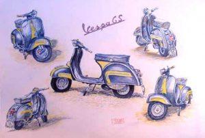 Bike Watercolour by Stan Hurr