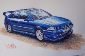 Car Watercolour by Stan Hurr