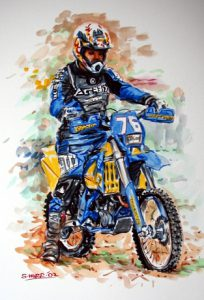 Motorcross Watercolour by Stan Hurr