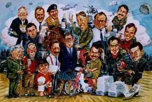 Group Caricature by Stan Hurr
