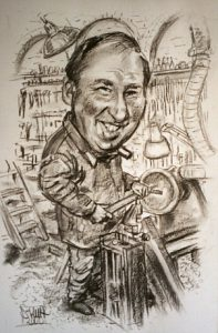 Charcoal Caricature by Stan Hurr