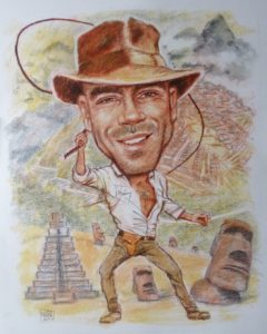 Adventurer Colour Caricature by Stan Hurr