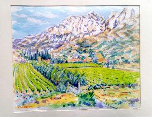 Watercolour Landscape Painting by Stan Hurr