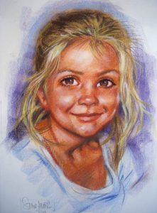 Colour Pastel Portrait by Stan Hurr