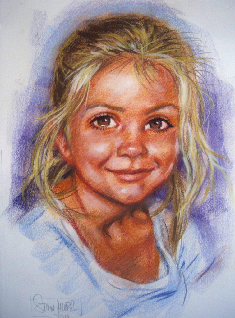 Colour Pastel Portrait by Stan Hurr