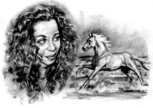 Woman and Horse Portrait by Stan Hurr