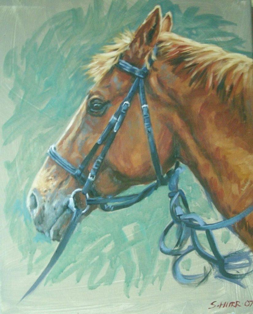 Pet Portraits - Horse Oil Portrait by Stan Hurr