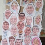 Progress of a group caricature